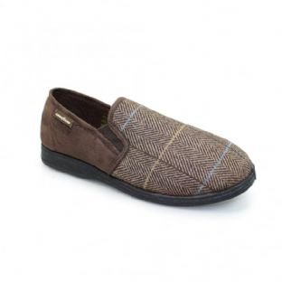 Goodyear Mens Harrison Brown Slippers